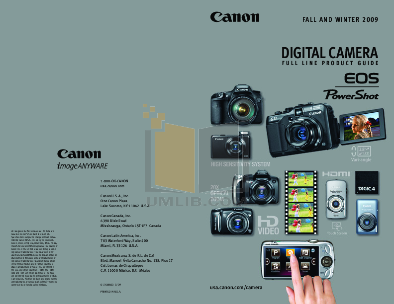 pdf for Canon Digital Camera Powershot SD940 IS manual
