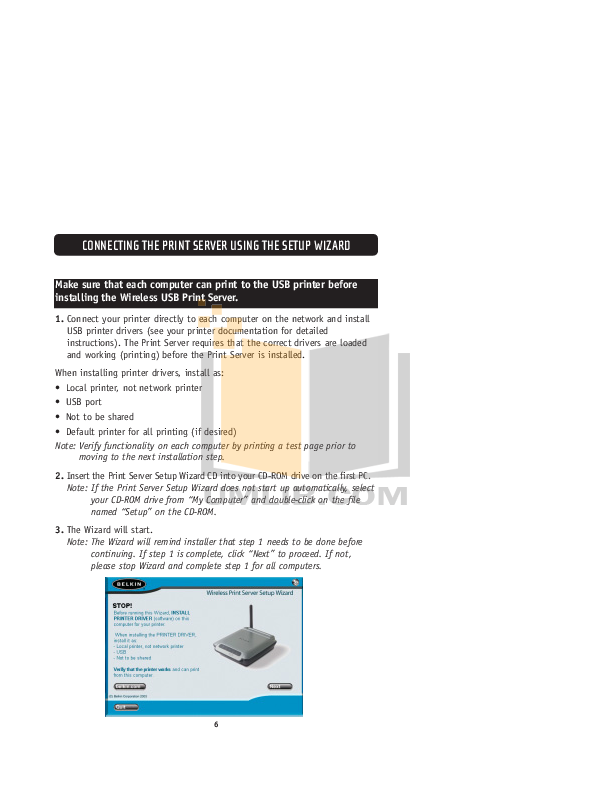 Belkin Router F1UP0001 pdf page preview