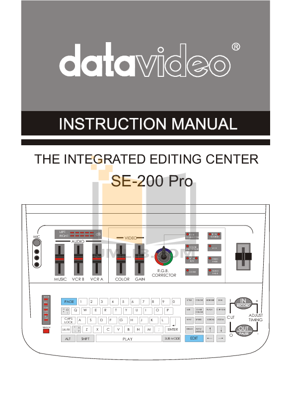pdf for Datavideo Other SE-200 Pro Mixer manual