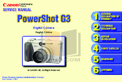 pdf for Canon Digital Camera Powershot A50 manual
