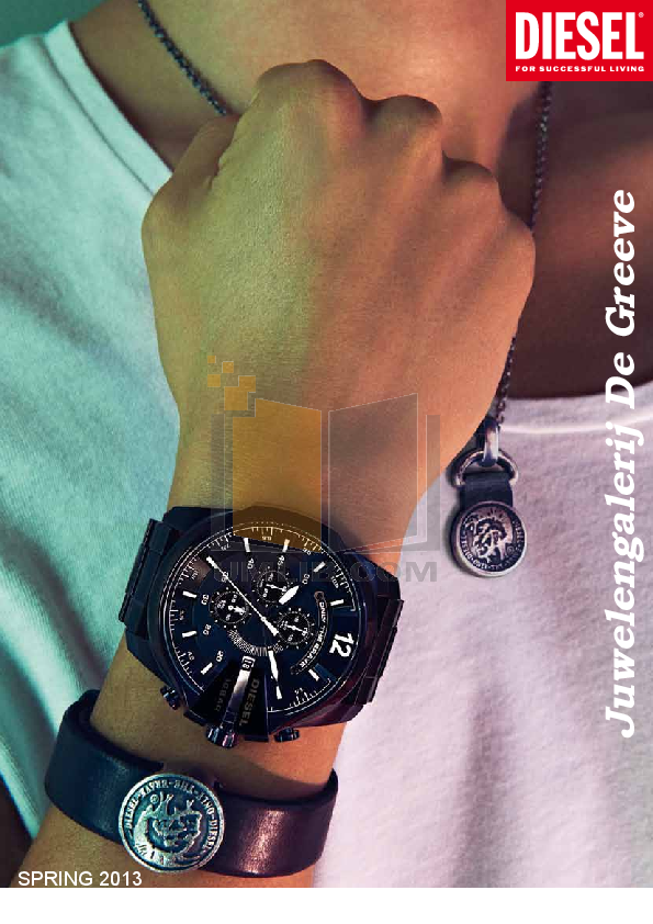 pdf for Diesel Watch DZ1123 manual