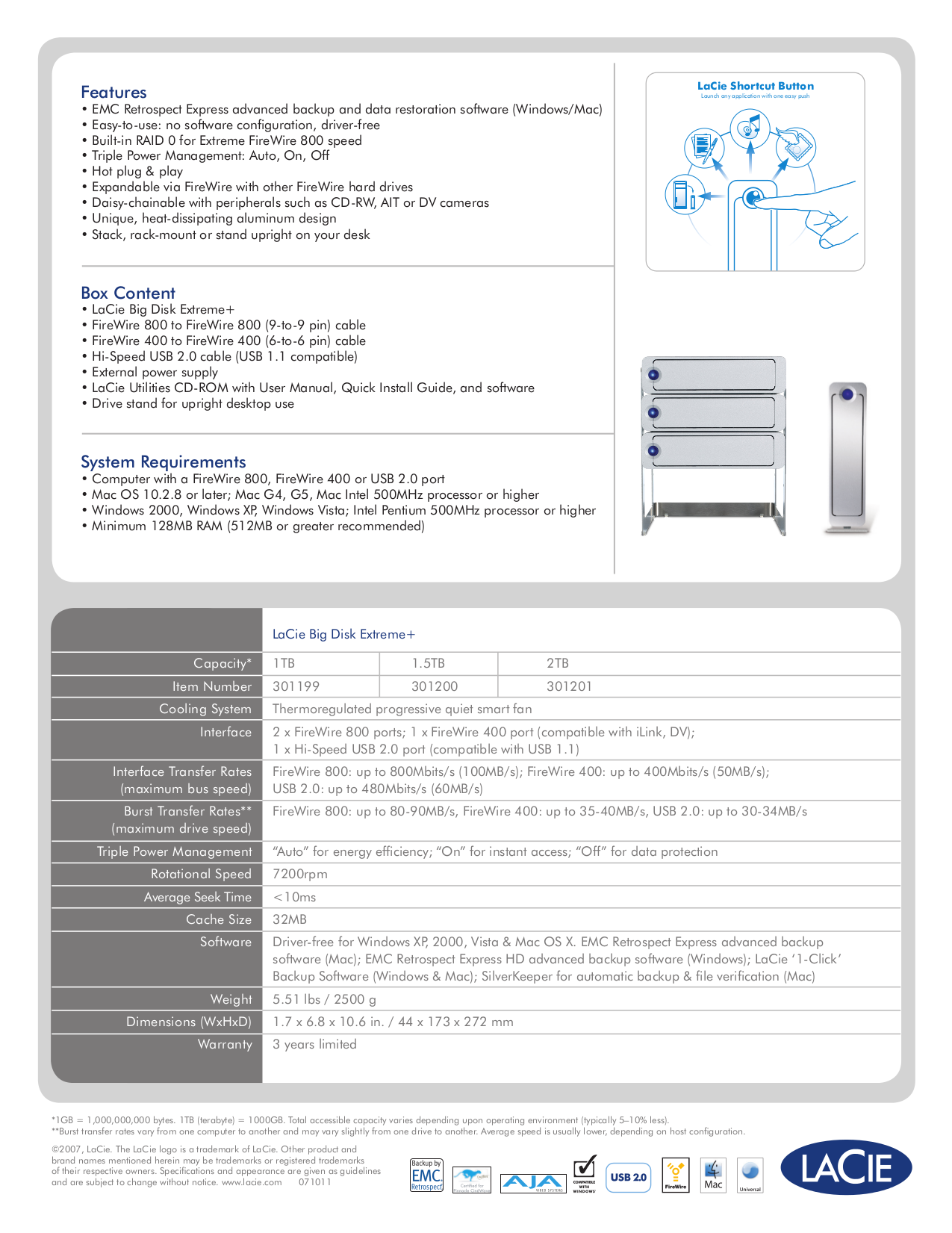 LaCie Storage 301304U pdf page preview
