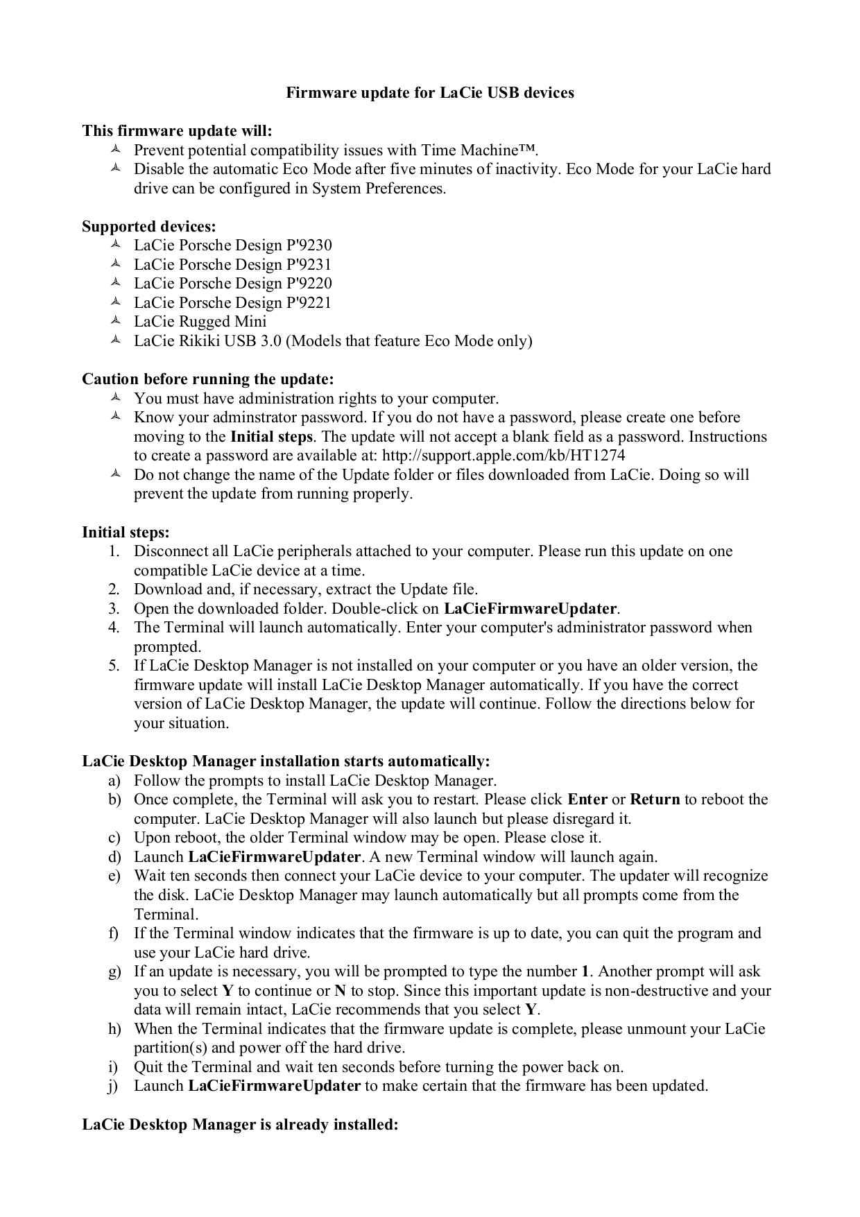 pdf for LaCie Storage 301304U manual