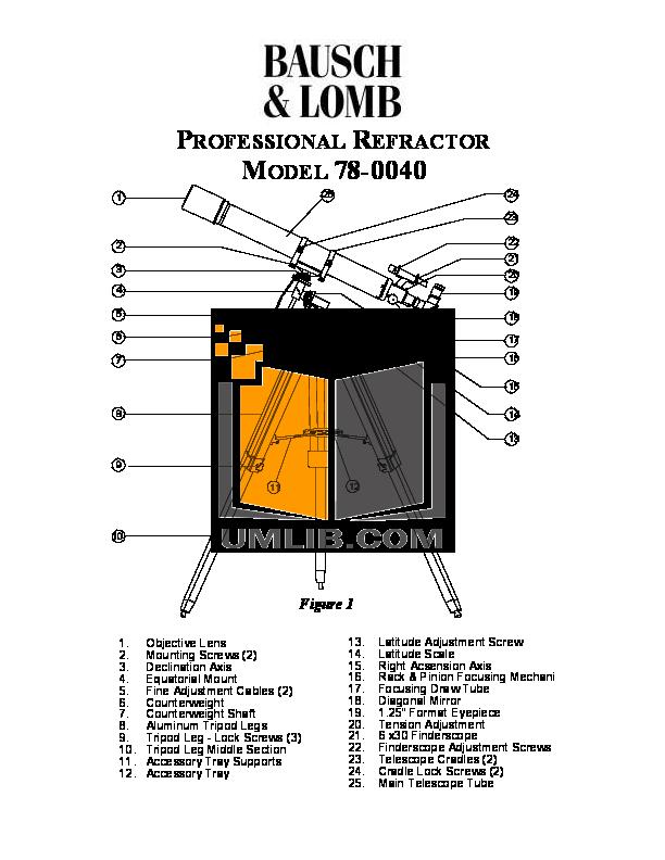 pdf for Bushnell Telescope 78-0040 manual