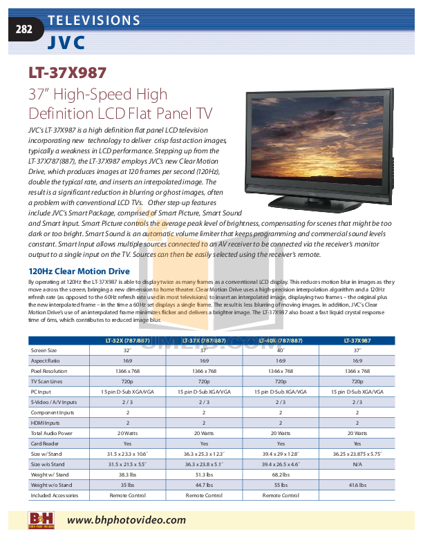 Audiovox TV FPE1080 pdf page preview