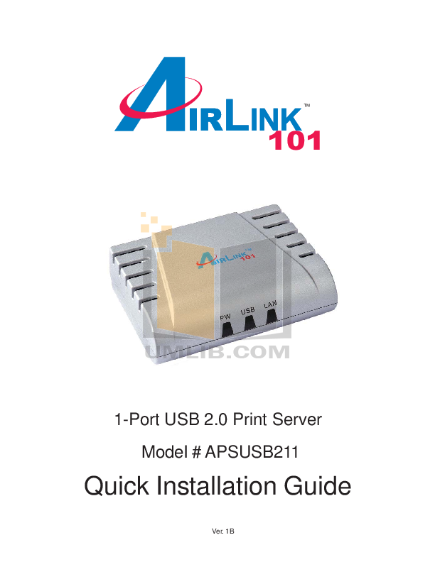 pdf for Airlink Other APSUSB211 Servers manual