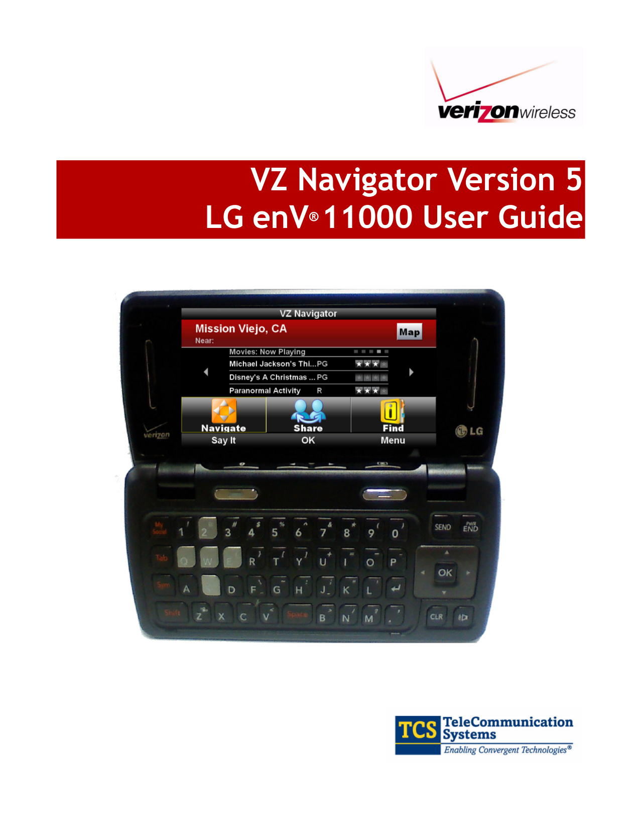 pdf for LG Cell Phone enV Touch manual