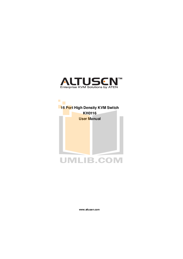 ATEN Switch Altusen KH-0116 pdf page preview