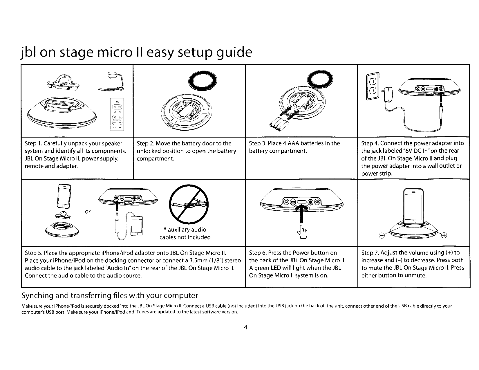 pdf manual for jbl speaker jbl on stage ii rh umlib com JBL On Stage Micro II jbl on stage ii user manual