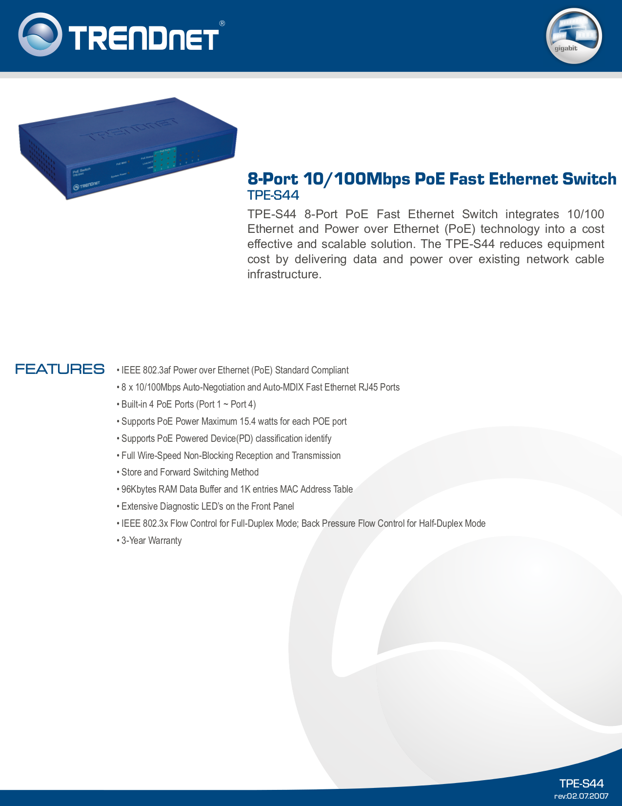 Download Free Pdf For Trendnet Tpe 101i Poe Adapter Other Manual Power Over Ethernet Schematic