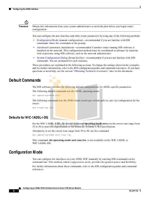 PDF manual for Cisco Router 1721