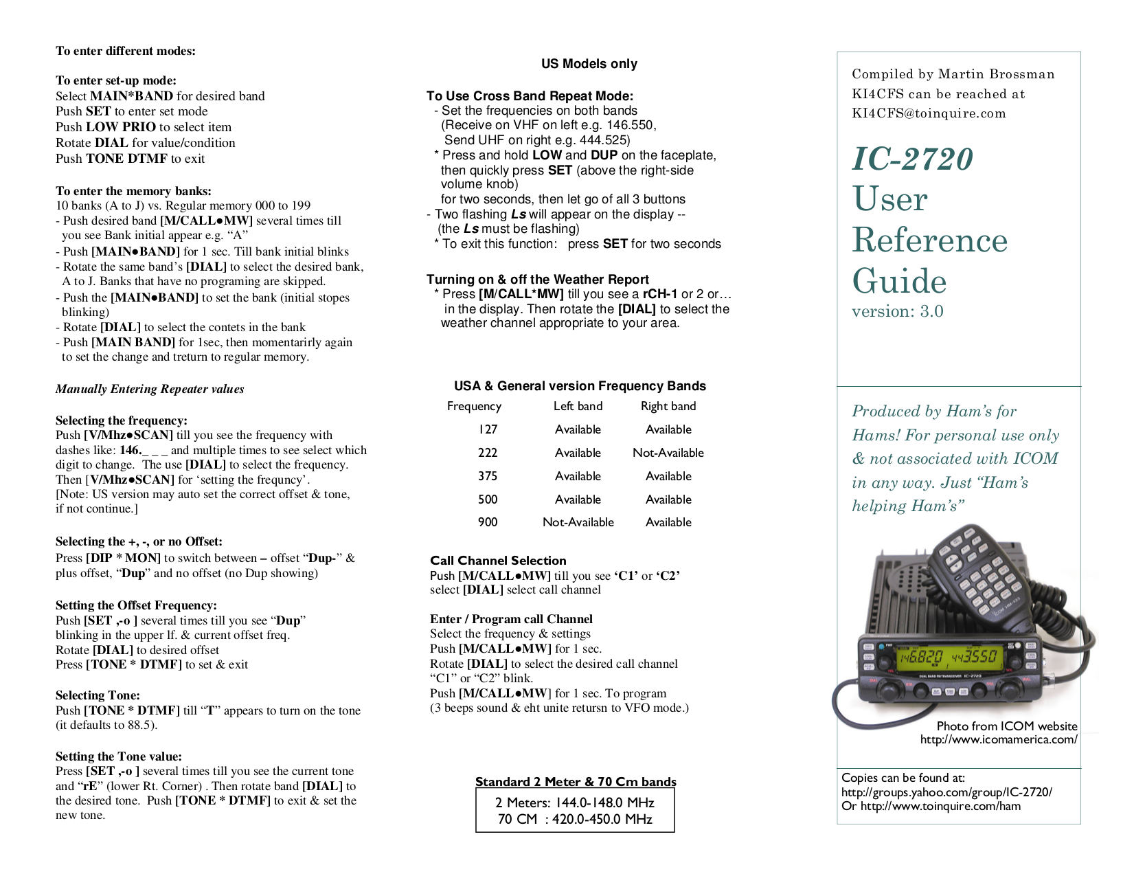 Icom Ic 2720h Manual L130 Deck Diagram Http Wwwpic2flycom L130deckdiagramhtml Array Download Free Pdf For 2 Way Radio Rh Umlib Com