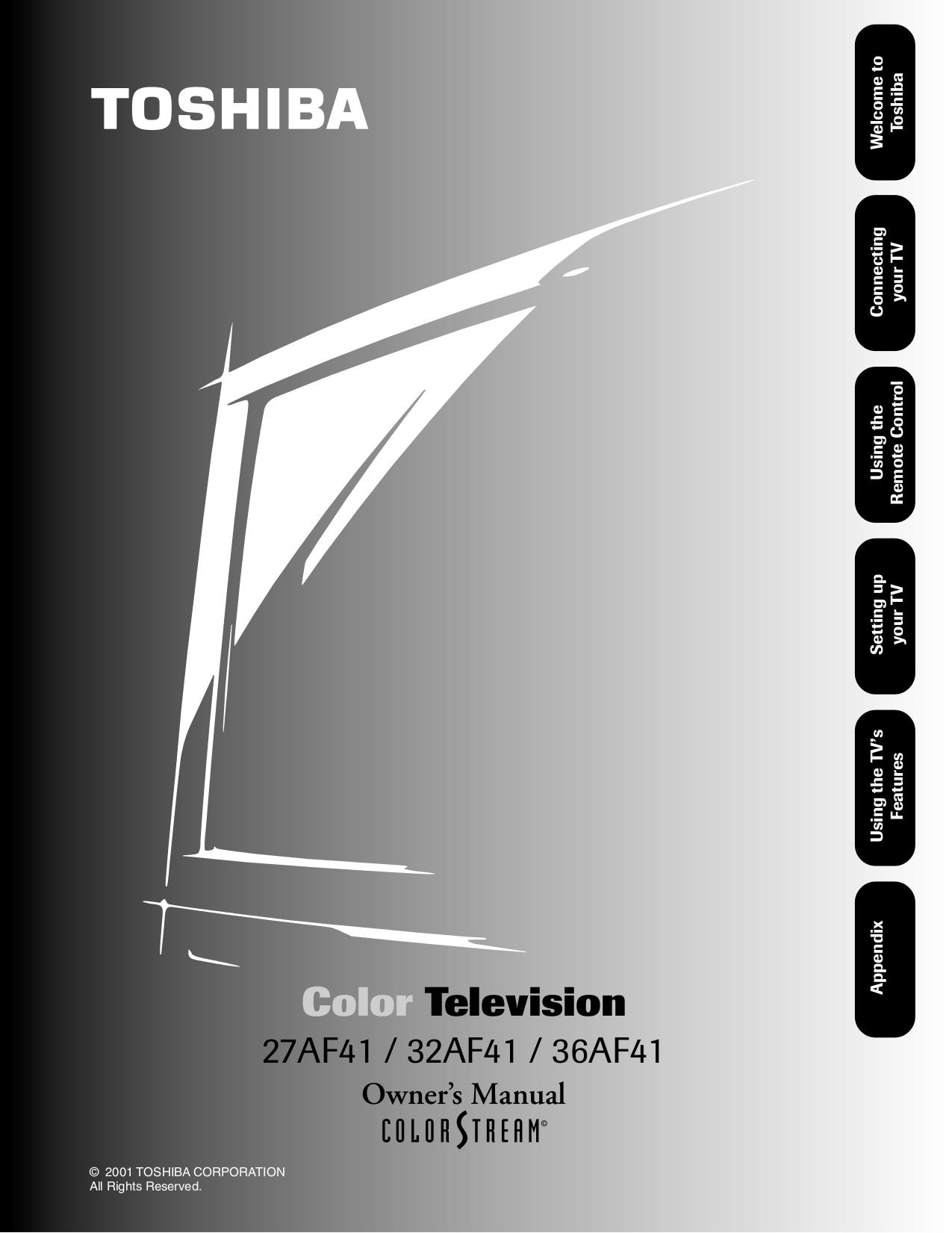 User Manual Toshiba Tv