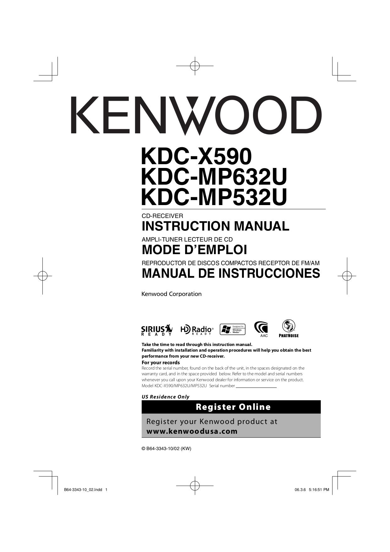 kenwood kdc 122 user manual