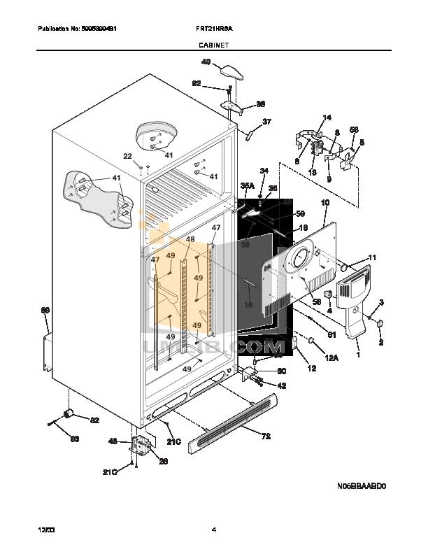 Frigidaire Refrigerator FRT21HR6AW5 pdf page preview