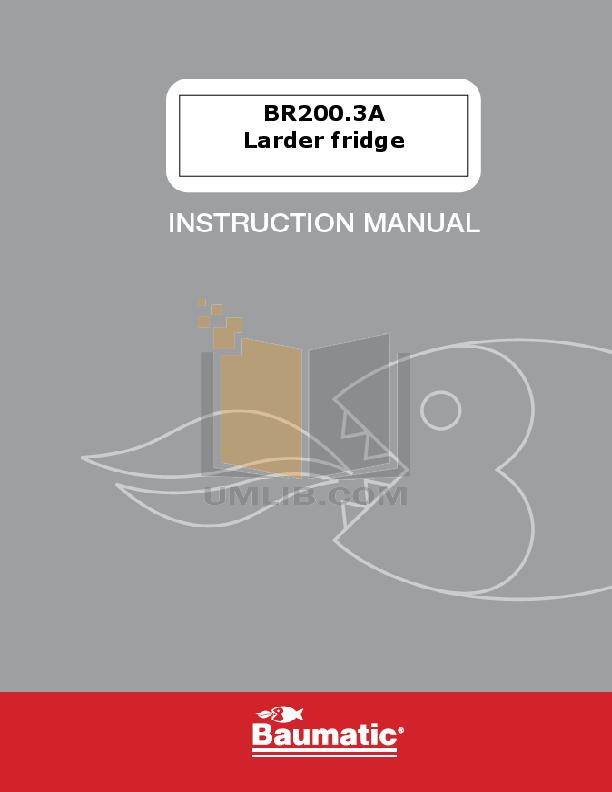 pdf for Baumatic Freezer BR200.3A manual