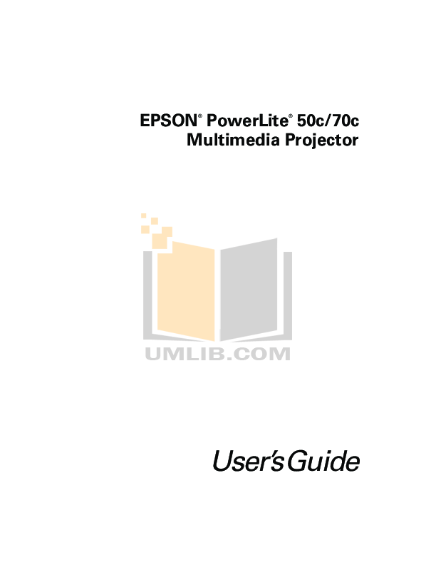 pdf for Epson Projector PowerLite 50c manual