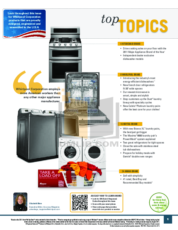 Amana Freezer AQC1513TE pdf page preview