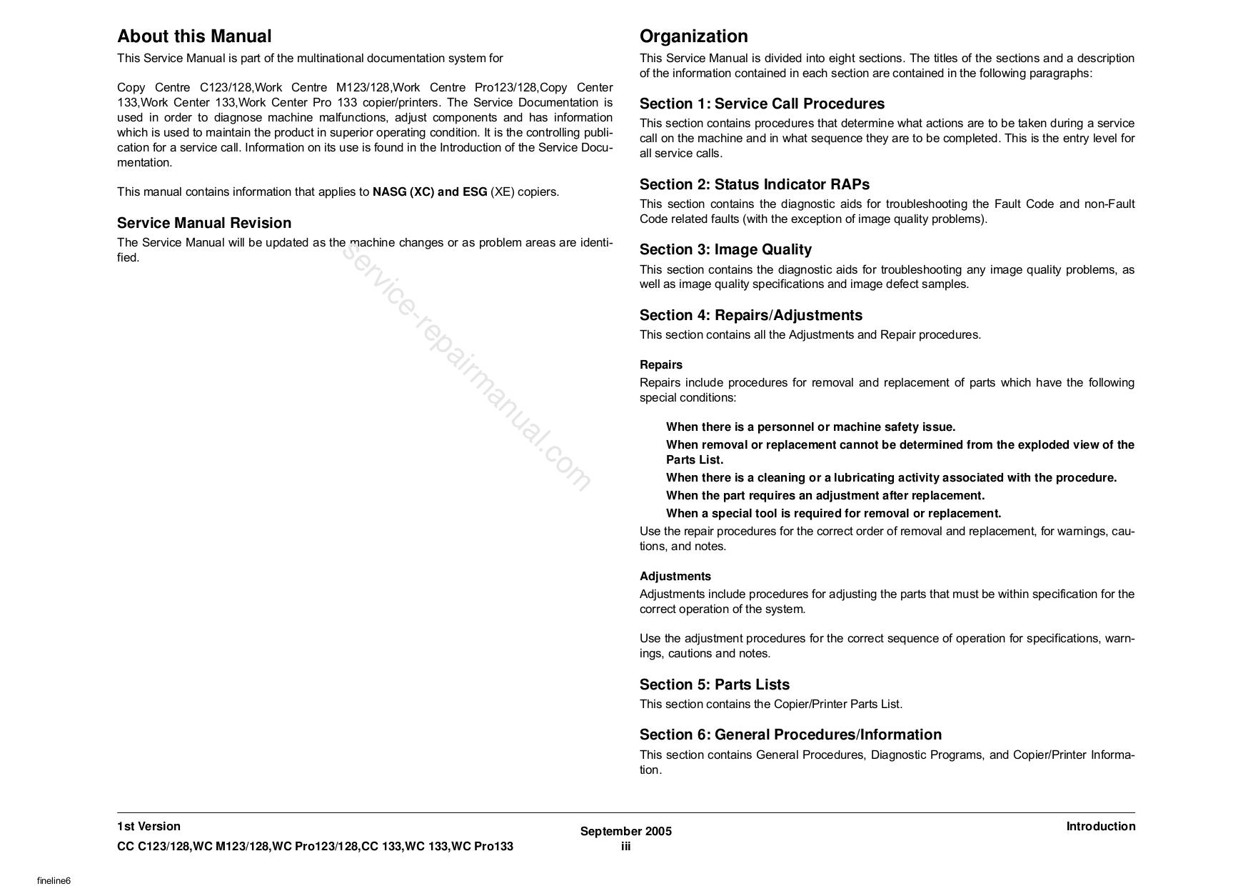PDF manual for Xerox Copier CopyCentre C123