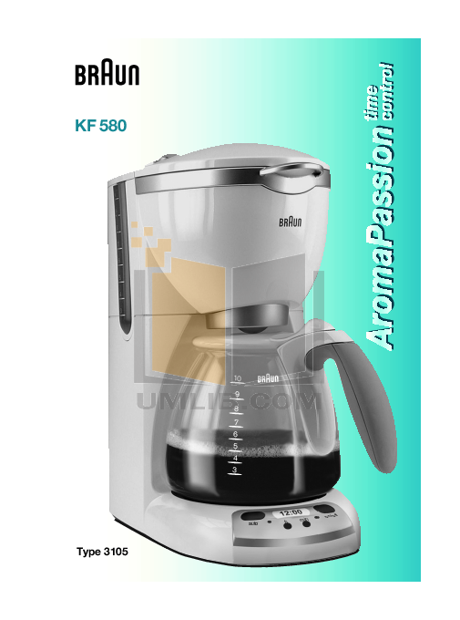 Braun Coffee Maker Repair Guide : Braun Coffee Maker 3105 Manual - freloadchoices