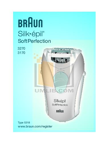 pdf for Braun Other Silk-epil SoftPerfection 3170 Epilators manual