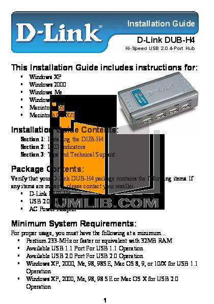 pdf for D-link Other DSB-H4 manual