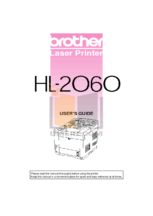pdf for Brother Printer HL-5170DN manual