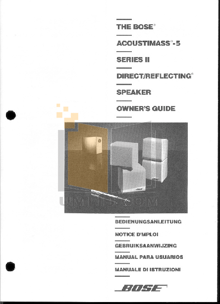 bose acoustimass 15 home theater speaker system manual
