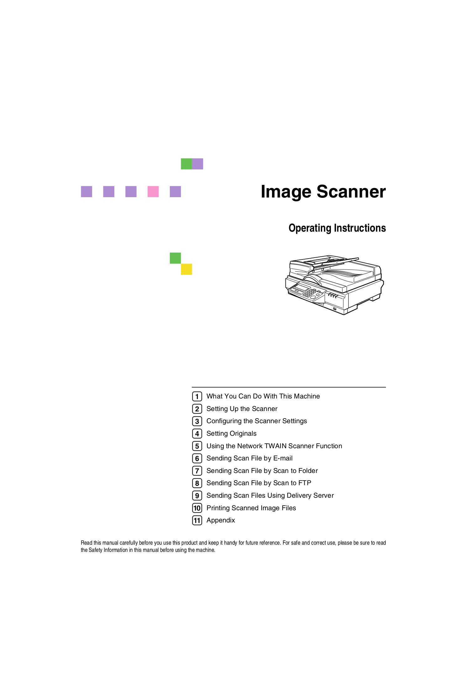 pdf for Ricoh Scanner IS300e manual