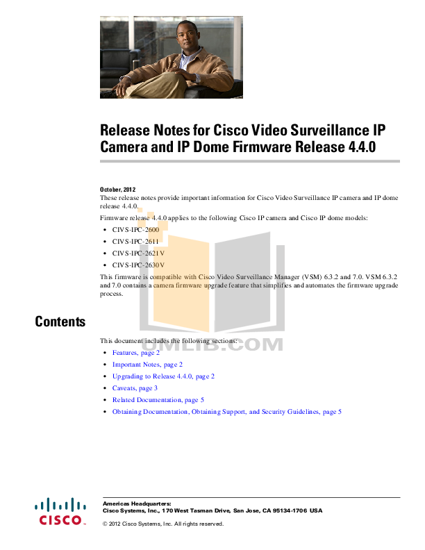pdf for Cisco Security Camera CIVS-IPC-2621V manual