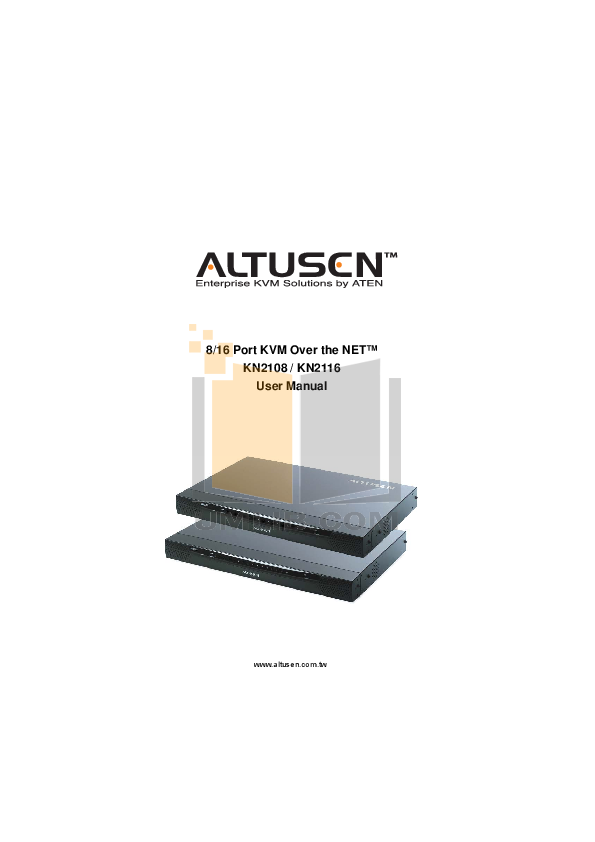 pdf for ATEN Other Altusen KN-2108 KVM Switch manual