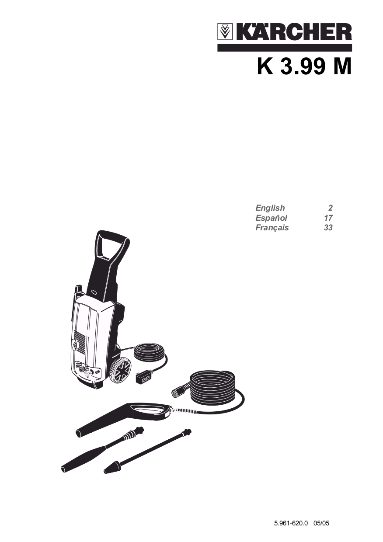 pdf for Karcher Other K 3.99 M Pressure Washers manual
