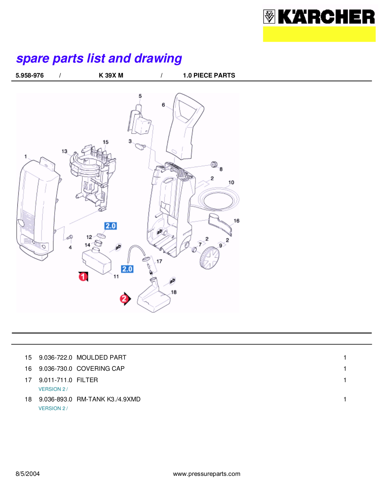 Karcher Other K 3.99 M Pressure Washers pdf page preview