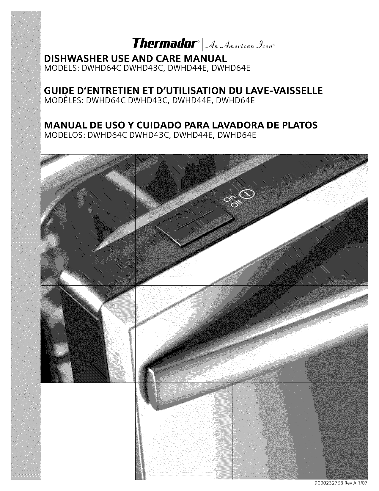 Download Free Pdf For Thermador Dwhd64ef Dishwasher Manual Manual Guide