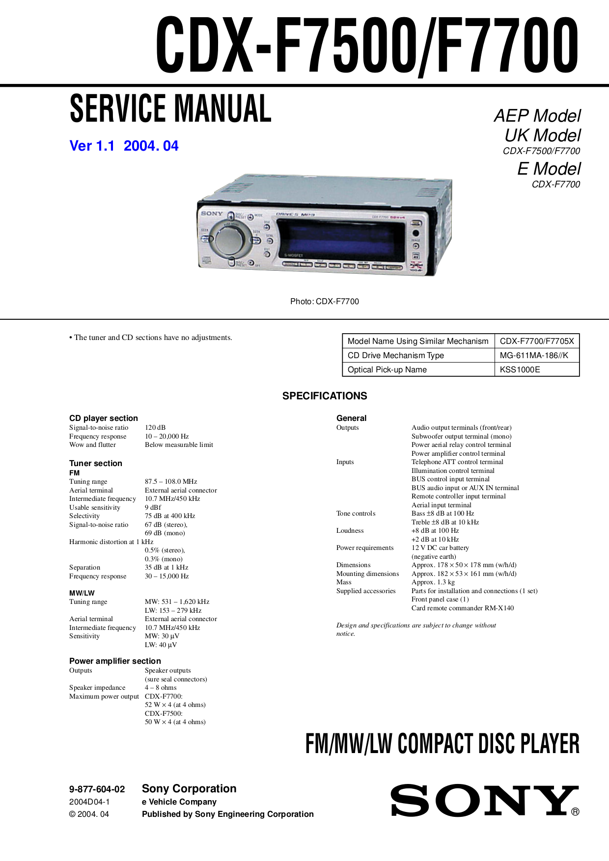 Sony Xplod Cdx F5700 Wiring Diagram 35 Images F7500 F7700pdf 0 Download Free Pdf For F7705x Car Receiver Manual