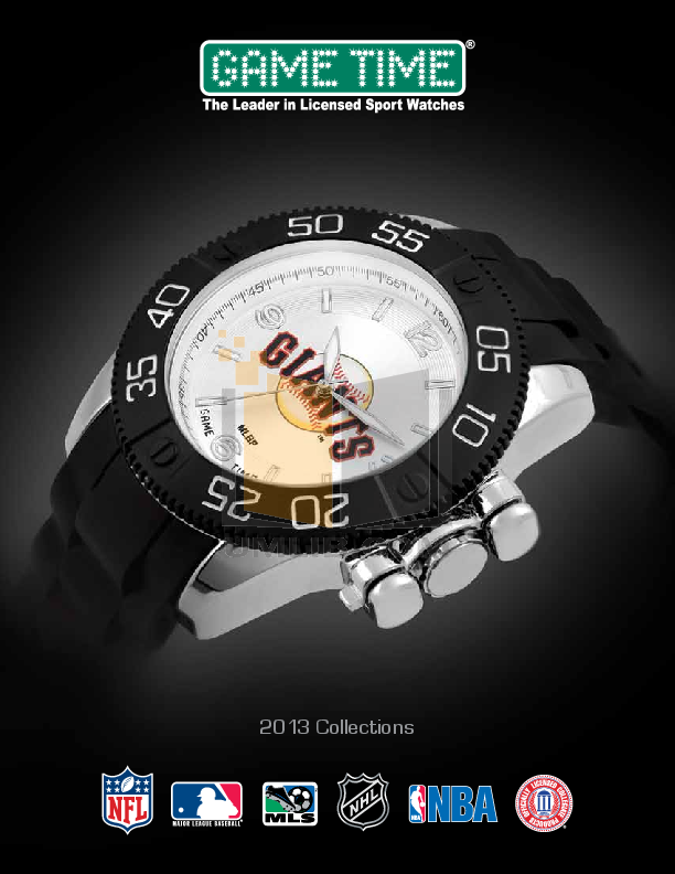 pdf for Gametime Watch NFL-GLI-CHI manual