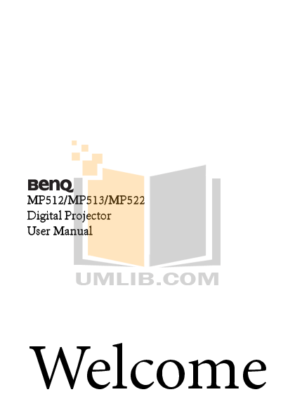 pdf for Benq Projector MP513 manual