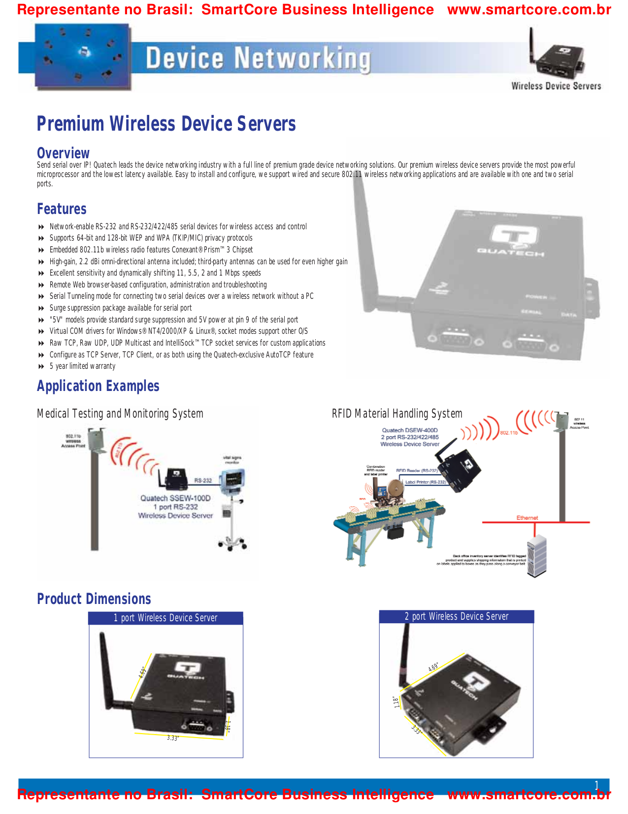 Quatech Other CP-ESCLP-M HD-68 PCI Serial Boards pdf page preview