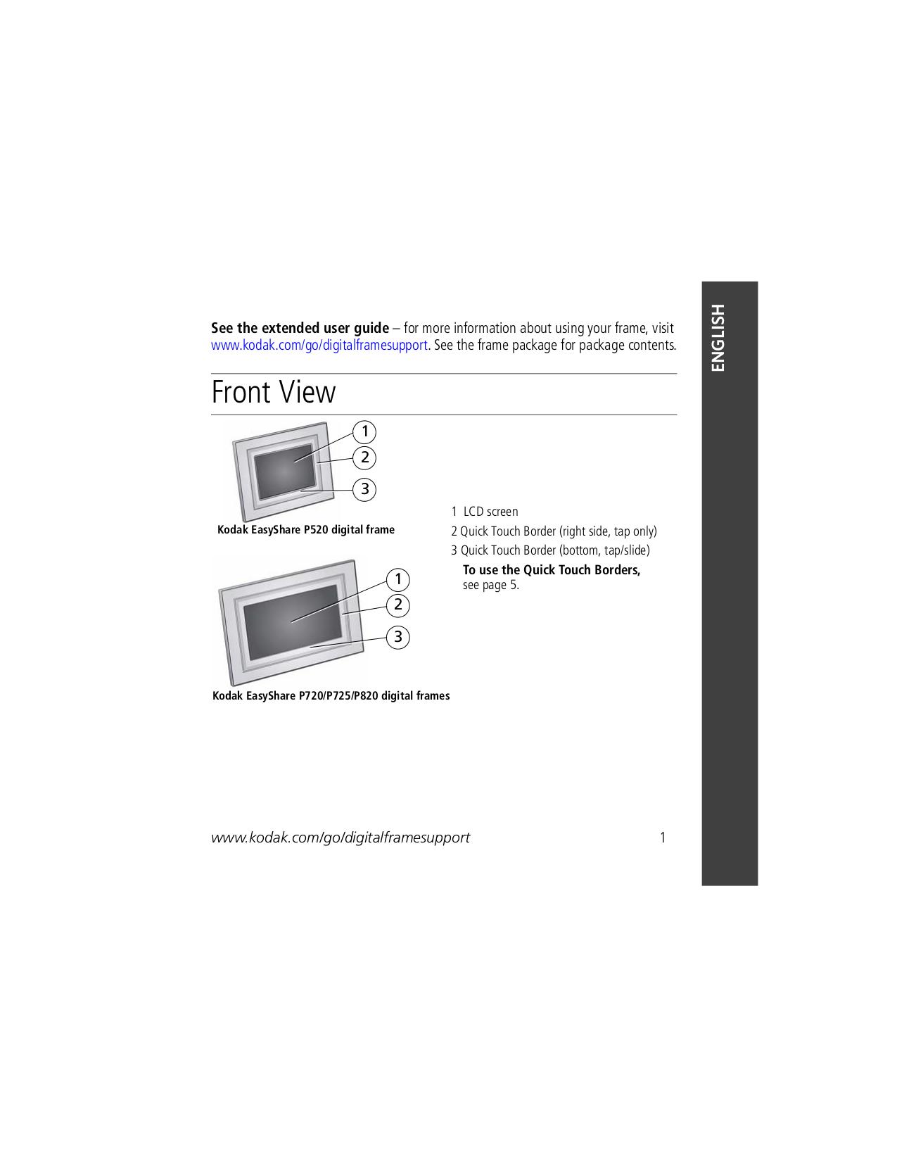 pdf for Kodak Digital Photo Frame EasyShare P520 manual