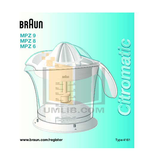 pdf for Braun Other MPZ9 Juicers manual