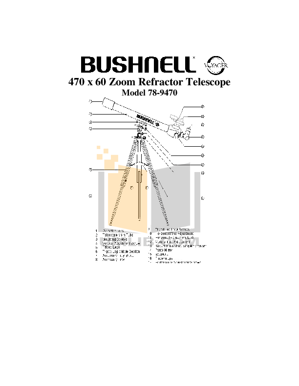 pdf for Bushnell Telescope 78-9470 manual