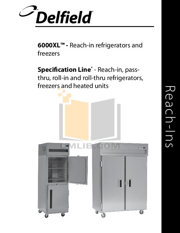 Delfield Refrigerator SAR1S-SH pdf page preview