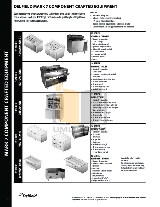 Delfield Refrigerator SAR1S-SH pdf page preview