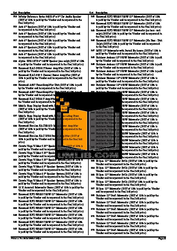 Alpine Car Video TMX-R680A pdf page preview