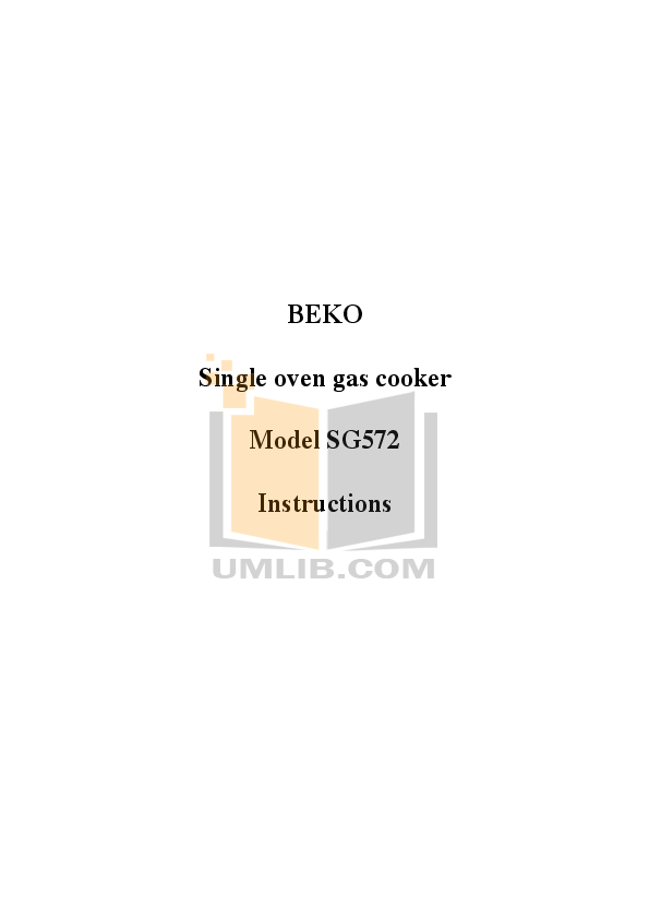 download free pdf for beko sg562 cookers other manual rh umlib com