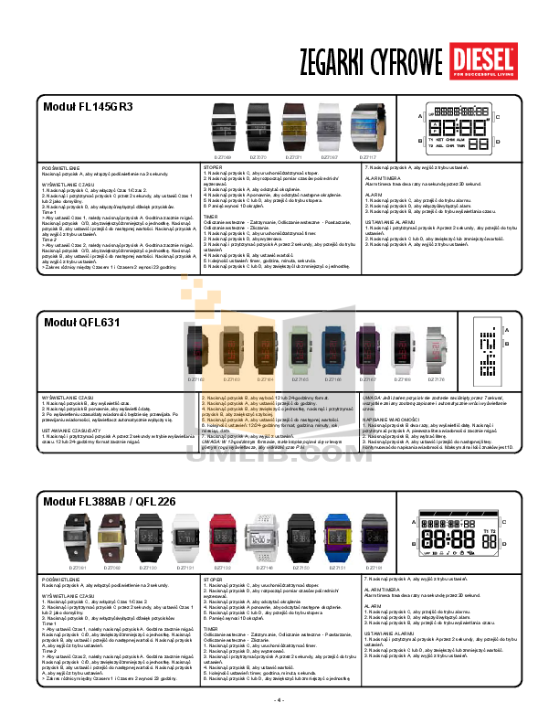 Diesel Watch DZ7163 pdf page preview