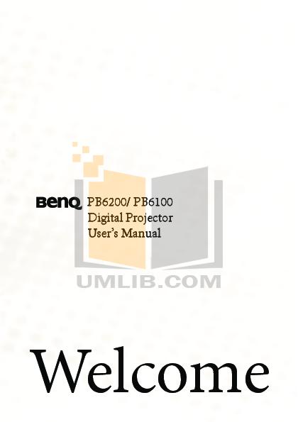 pdf for Benq Projector PB2220 manual