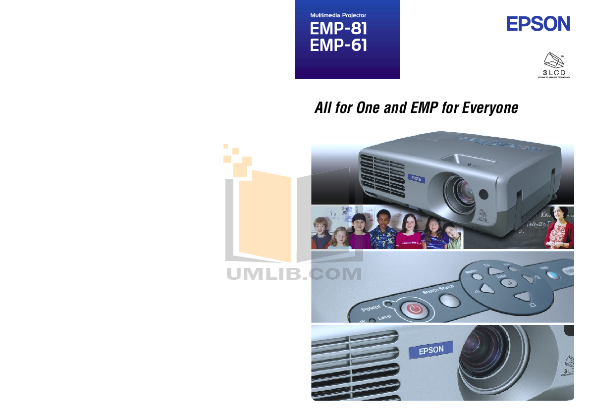 pdf for Epson Projector EMP-62 manual