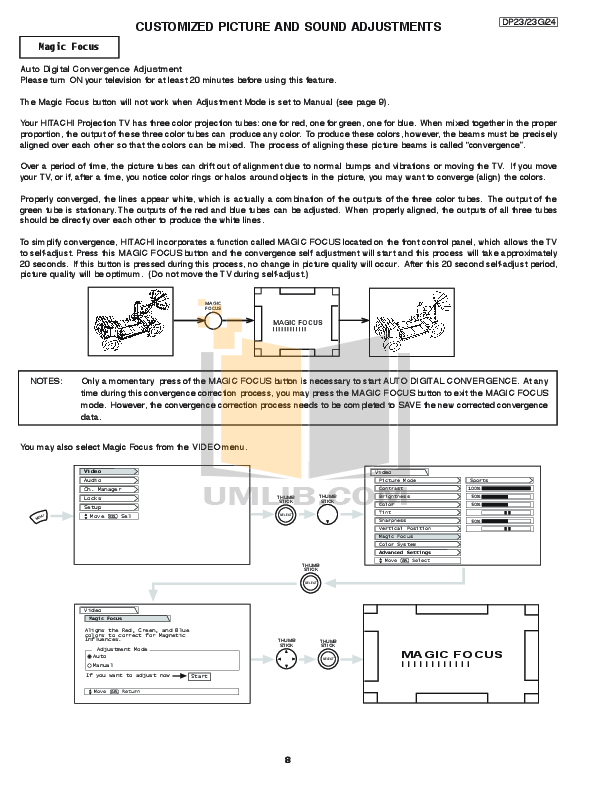 pdf manual for hitachi tv 43fwx20b rh umlib com Hitachi Excavator Repair Manual Hitachi Manuals Television
