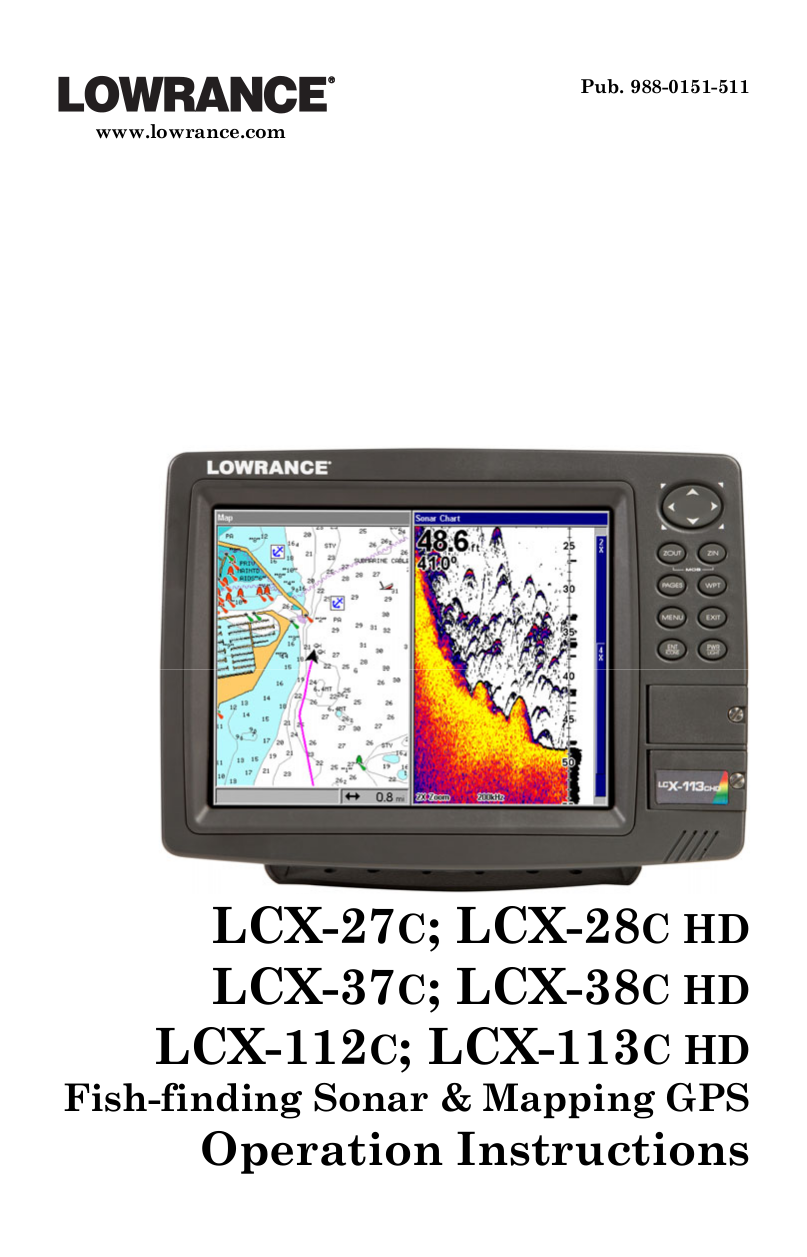 pdf for Lowrance GPS LCX-28C HD manual